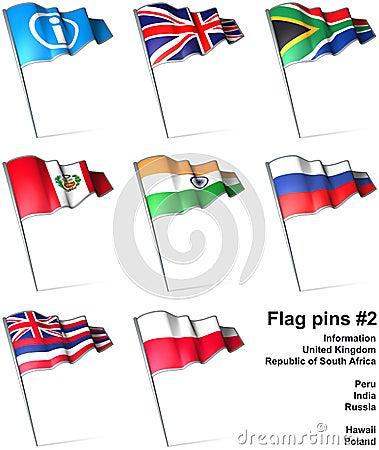 Flag pins 2