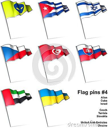 Flag pins 4