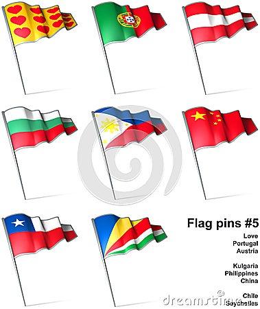 Flag pins #5