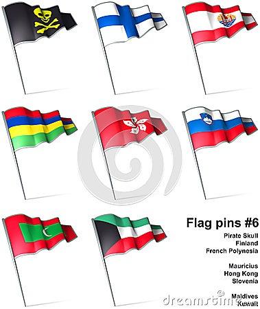 Flag pins #6