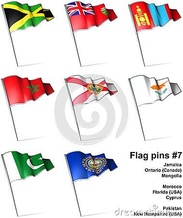 Flag pins #7