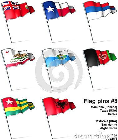 Flag pins #8