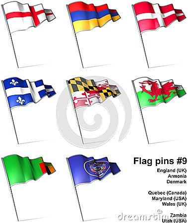 Flag pins #9
