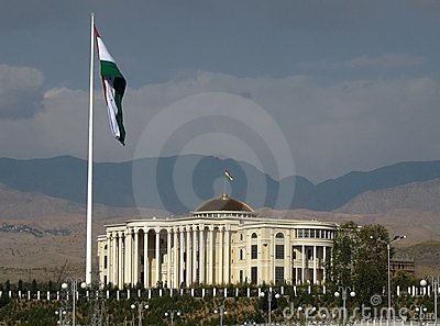 flag pole in Dushanbe, Tajikistan Editorial Photography
