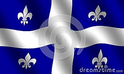 Flag of Quebec Stock Photo