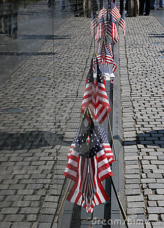 Flag Reflections Vietnam Wall