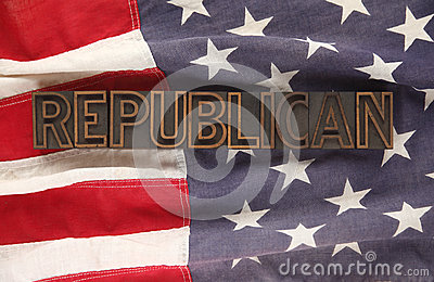 Flag with Republican word