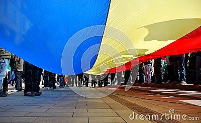 Flag of Romania Editorial Photo