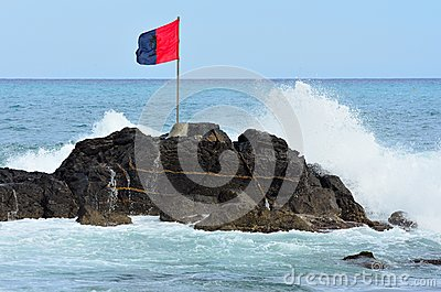 Flag and Sea