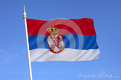 Flag of Serbia - Europe
