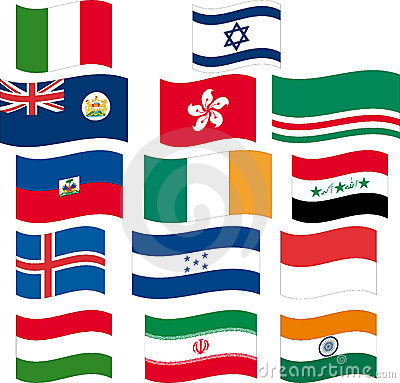 Flag set - part 6/12 - letter H and I