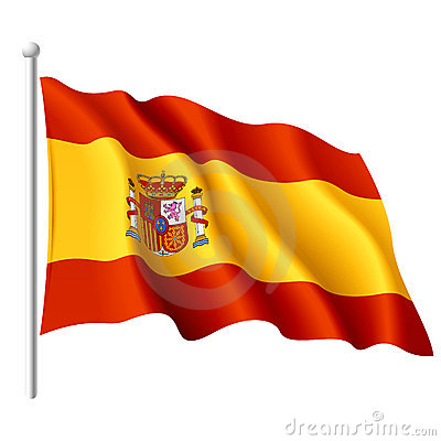 Flag of Spain. Detailed illustration.