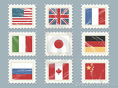 Flag stamps set 1