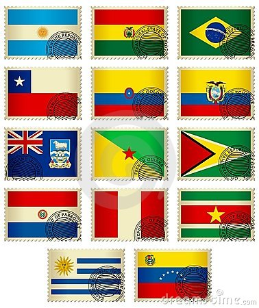 Flag Stamps_South America
