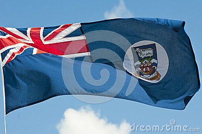 Flag Falkland Islands with rules