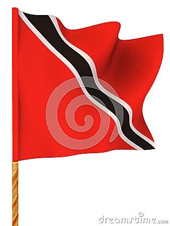 Flag. Trinidad and Tobago. 3d