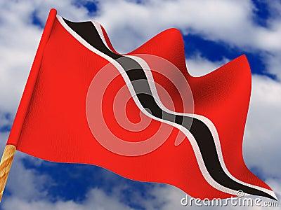 Flag. Trinidad and Tobago