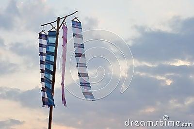 Flag under sky