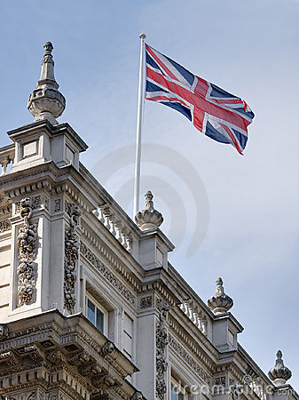 Flag of the United Kingdom at Downing Street