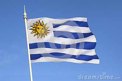 Flag of Uruguay - South America