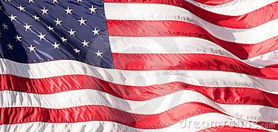 Flag of the USA (America) on Wall Street
