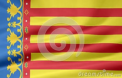 Flag of Valencia - Spain