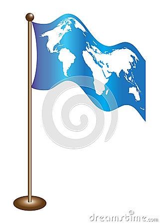 Flag world map
