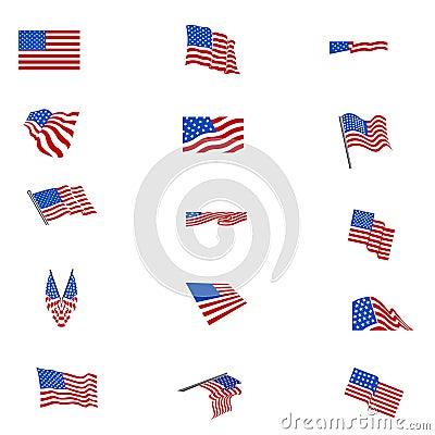 Flaga amerykańskich flaga ustawiać