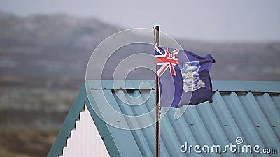 Flaga Falkland wyspy Islas Malvinas zbiory wideo