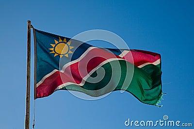 Flagga av Namibia