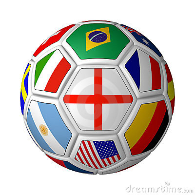Flagged Soccer Ball