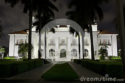 Flagler Museum at Night. Editorial Photo