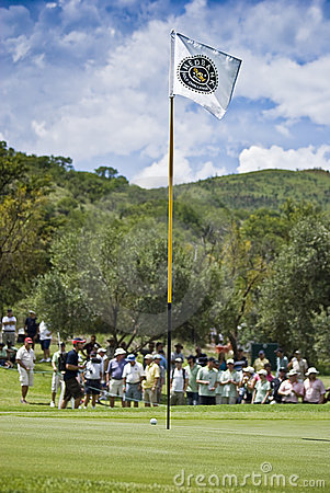 Flagpole, Ball, Green & Crowds - NGC2009 Editorial Stock Image