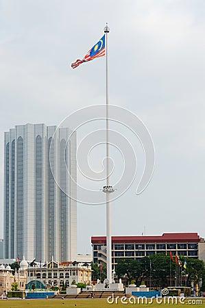 Flagpole at Merdeka Square, Kuala Lumpur, Malaysia Editorial Photo