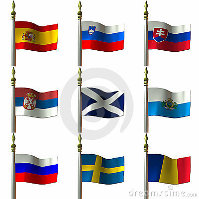 Free Flags Royalty Free Stock Photo - 1919685