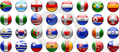 Flags 2010 FIFA world cup
