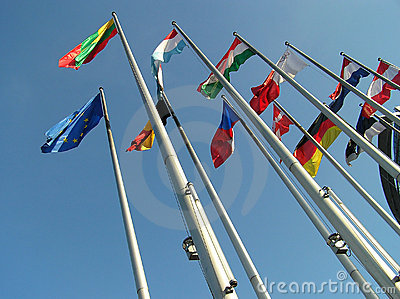 The flags.