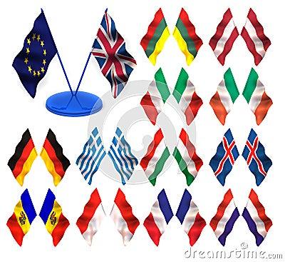 Flags. 3d
