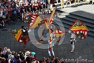 Flags acrobats Editorial Photo