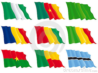 Flags of the African countries