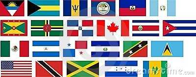 Flags of all North America countries