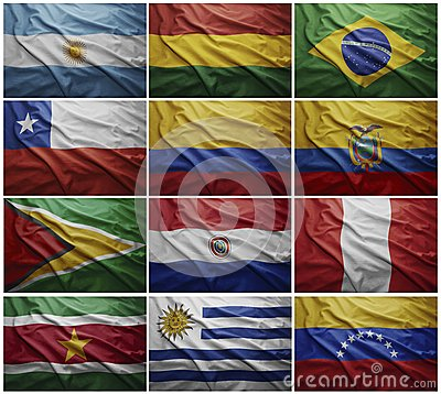 Latin American Flags Collage 53