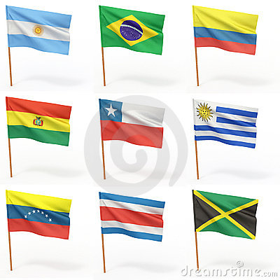 Flags of american country. Collection 3.