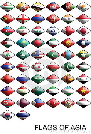 Flags Of Asia, Countries, Nations, Colours