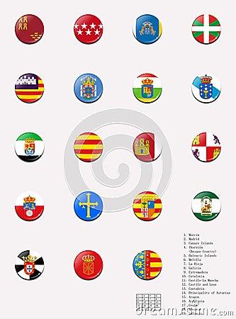 Flags balls of the spanish autonomous communities