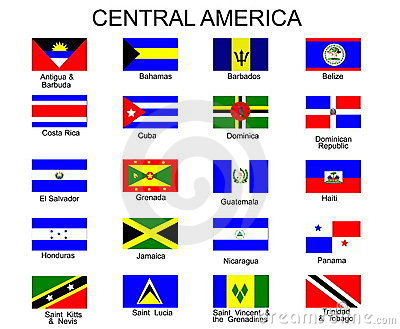 Flags of central america countries royalty free stock images image