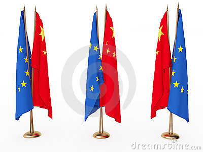 Flags of China and the EU