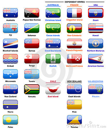 Flags of countries in Oceania