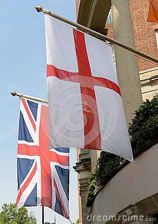 Flags of England and United Kingdom