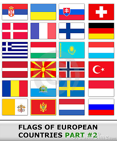 Flags of europe #2